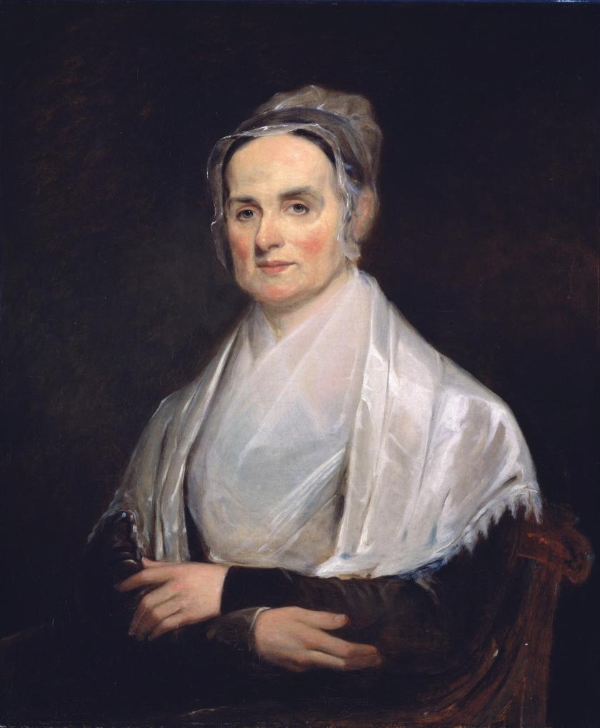 Lucretia Coffin Mott (1793 - 1880) *oil on canvas  *76.8 x 64.1 cm  *1842